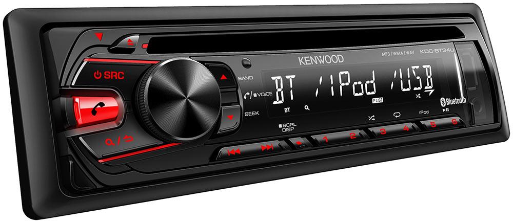 Kenwood KDC-BT562U CD Single DIN In-Dash Bluetooth Car Stereo