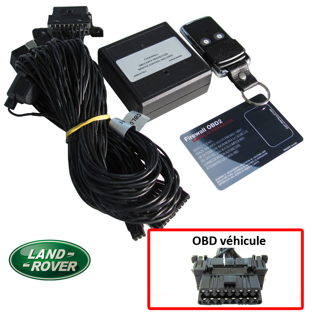 Land Rover Electronic anti thefts on OBD plug