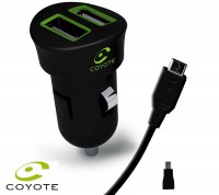 Coyote Double USB cigarette lighter charger