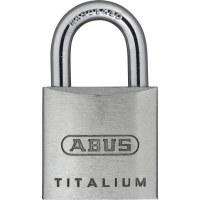 ABUS Padlock Titalium 64TI / 20, aluminum