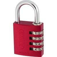 ABUS Aluminum Combination Padlock 145/30 Red