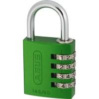 ABUS Aluminum Combination Padlock 145/30 Green