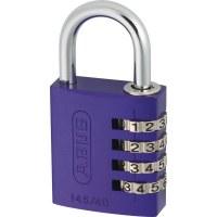 ABUS Aluminum Combination Padlock 145/30 Purple