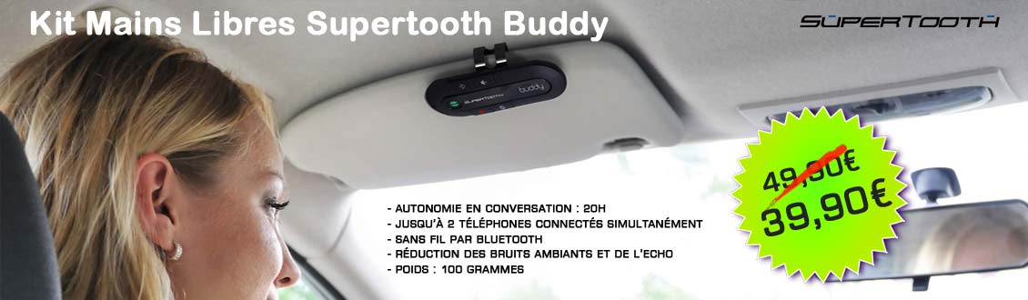 Kit mains libres bluetooth auto Supertooth Buddy Original