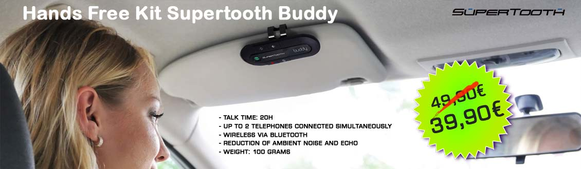 Bluetooth hands free kit Supertooh Buddy Original