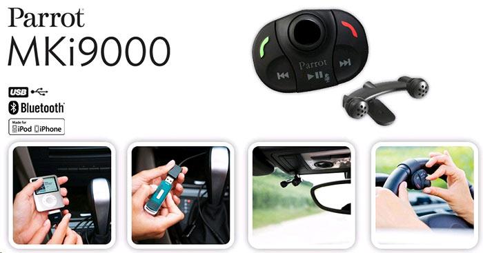 Parrot MKi 9000 Kit voiture mains libres Bluetooth...
