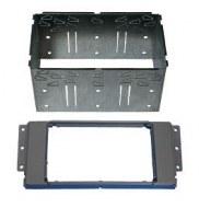 Adaptateur autoradio 2 DIN + cage pour Land Rover Freelander