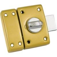 ABUS Lot de 2 verrous Classik C83, 45mm à bouton, bronze