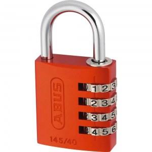 ABUS Cadenas à Combinaison en aluminium 145/30 Orange