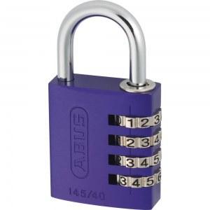 ABUS Cadenas à Combinaison en aluminium 145/30 Violet